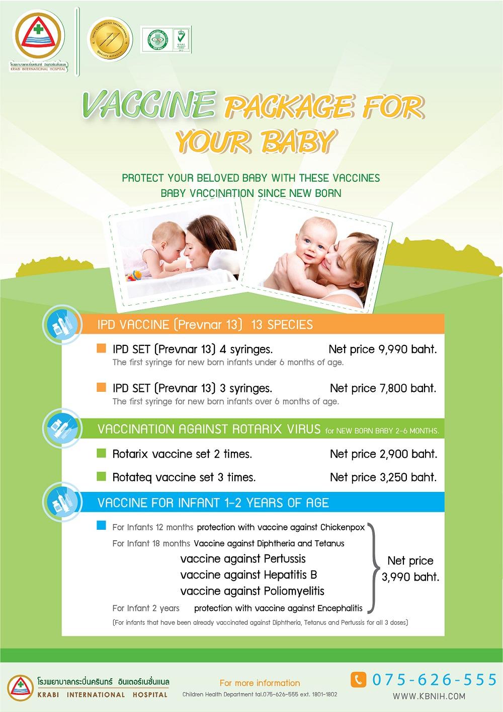 แพ็กเกจวัคซีนสำหรับลูกรัก
